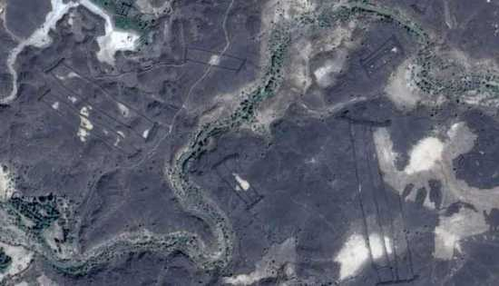 imágenes satelitales, puerta de Arabia Saudí